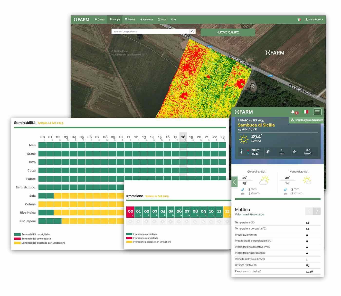 Agricoltura digitale controllata da satelliti