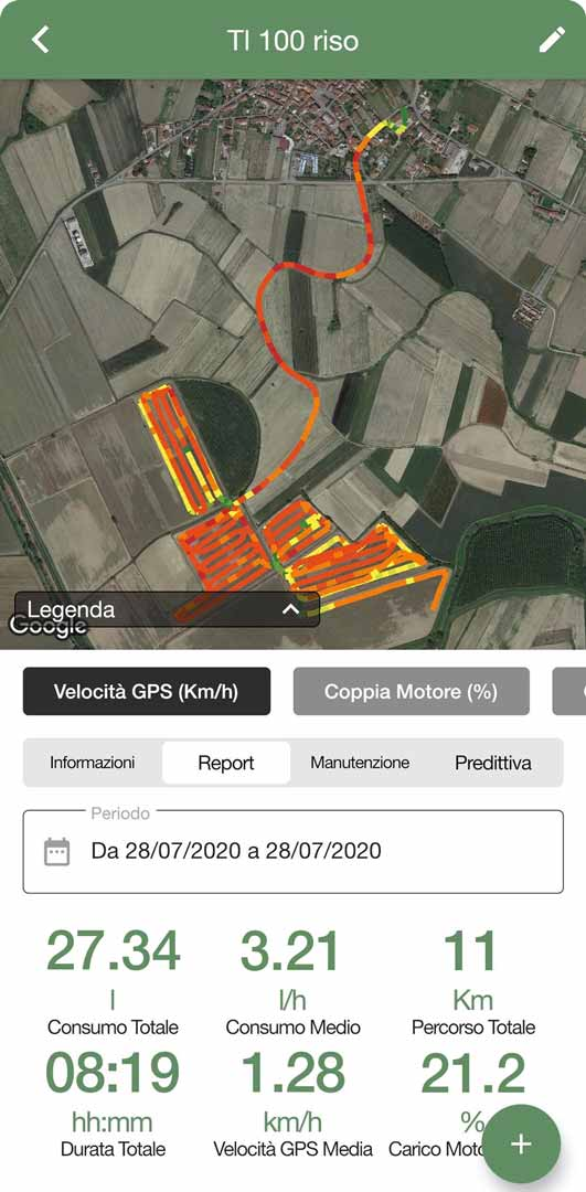 App telemetria macchinari agricoli
