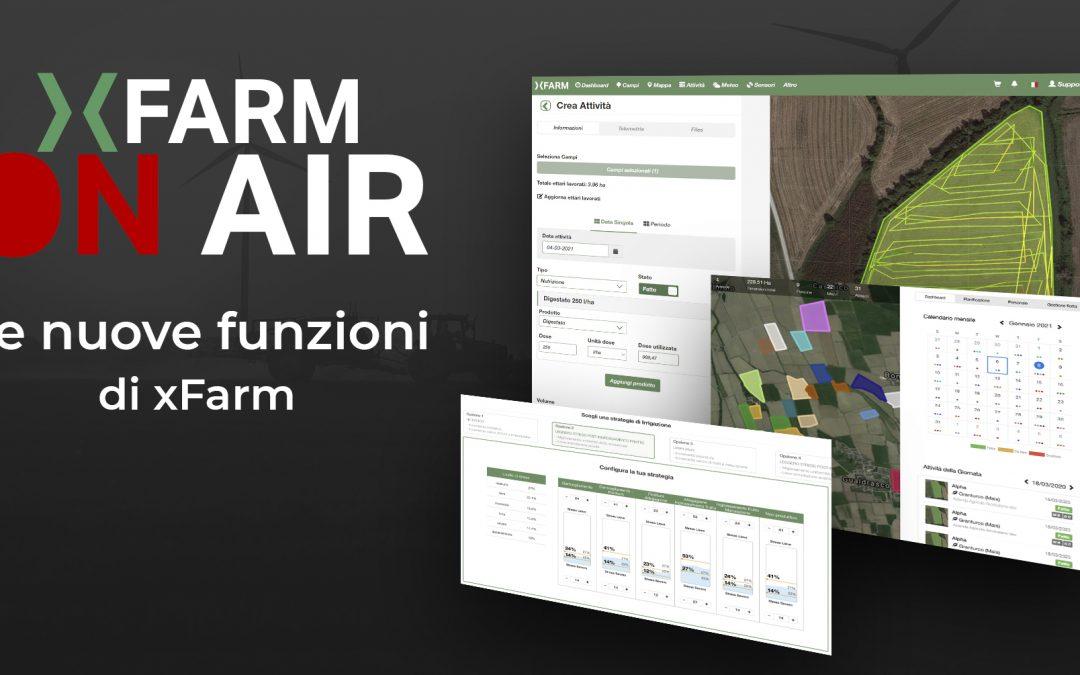 Le nuove funzioni di xFarm
